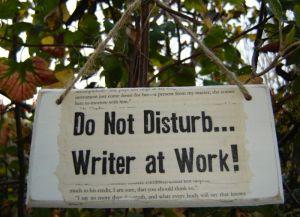 Writer-at-work-sign